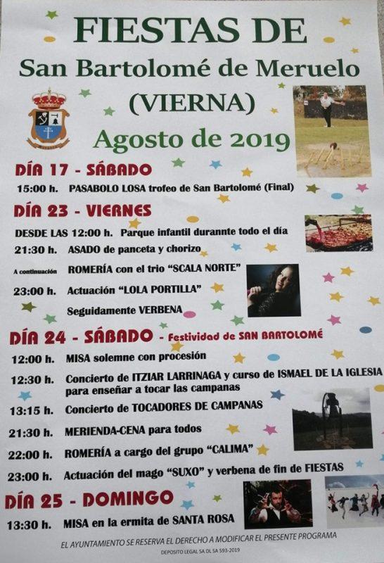 Fiestas de San Bartolomé en Vierna,Meruelo 2019