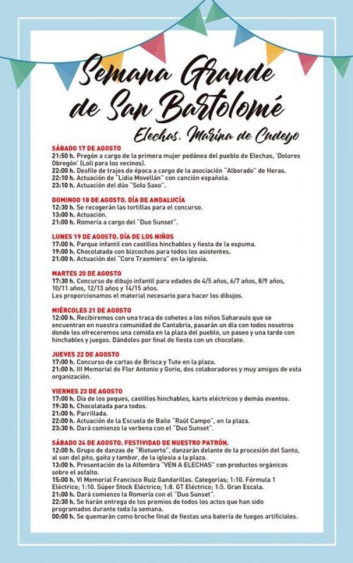 Fiestas de San Bartolome en Elechas 2019