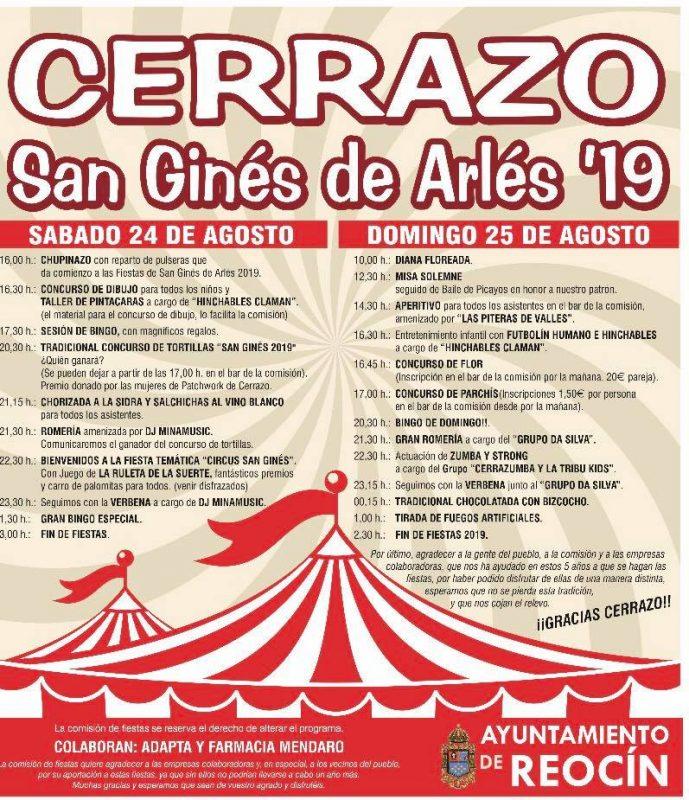 Fiestas de San Ginés de Arlés en Cerrazo 2019