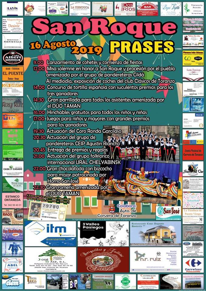Fiestas de San Roque en Prases 2019