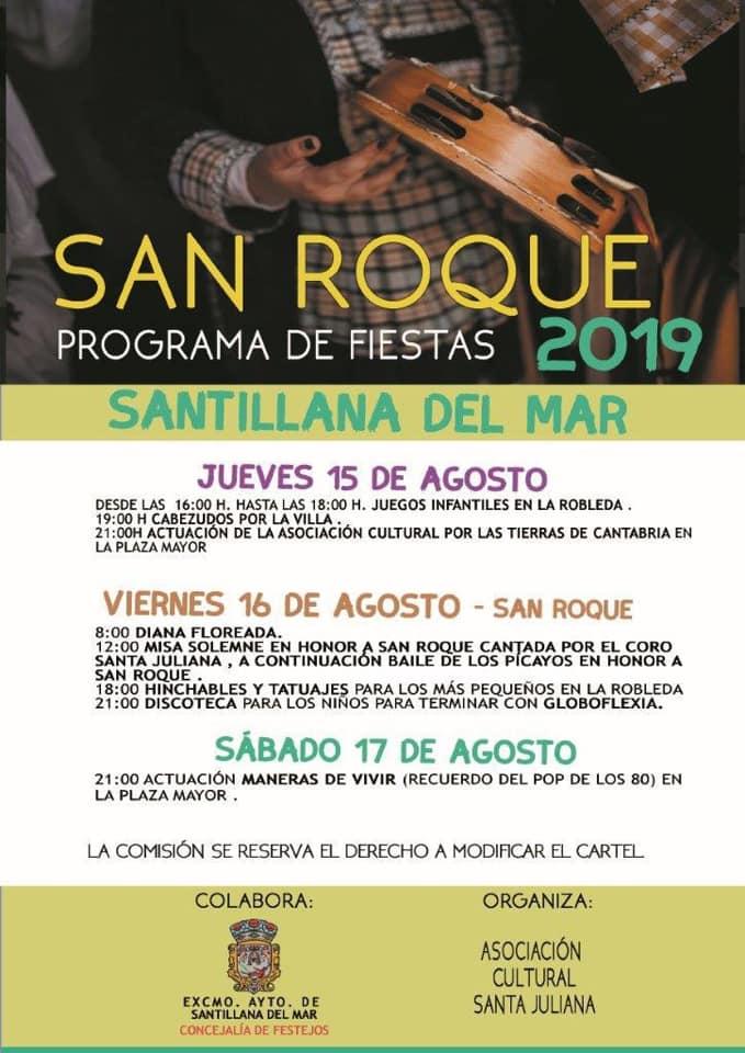 Fiestas de San Roque en Santillana del Mar 2019