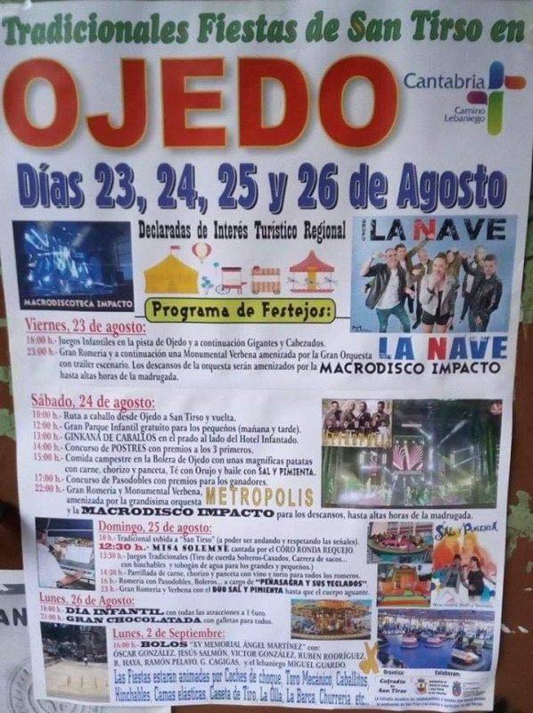 Fiestas de San Tirdo en Ojedo 2019
