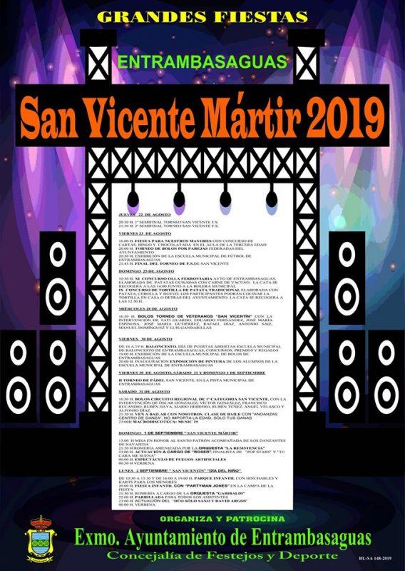 Fiestas de San Vicente Mártir en Entrambasaguas 2019