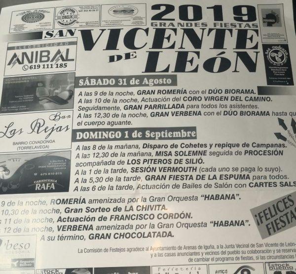 Fiestas de San Vicente de León en Arenas de Iguña 2019