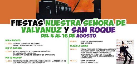 Fiestas de Valvanuz y San Roque en Selaya 2019