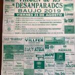 Fiestas de la Virgen de los Desamparados en Baujo,Voto 2019