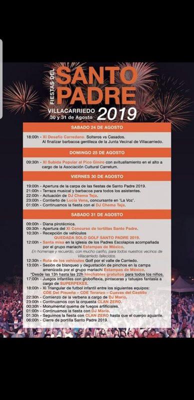 Fiestas del Santo Padre en Villacarriedo 2019