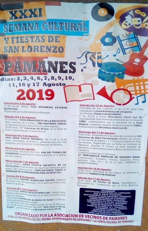 Semana cultural y Fiestas de San Lorenzo 2019 en Pámanes