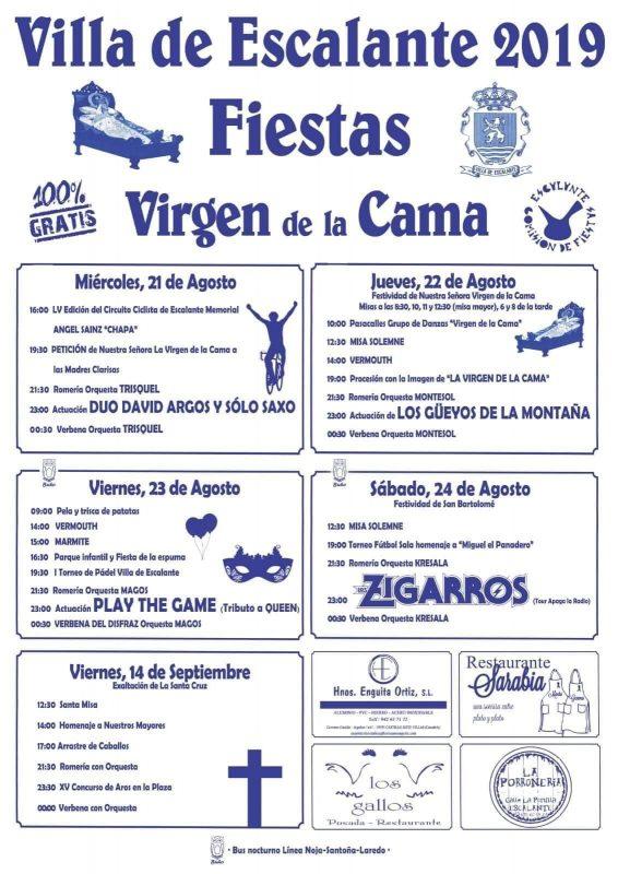Fiestas Virgen de la Cama 2019 en Escalante