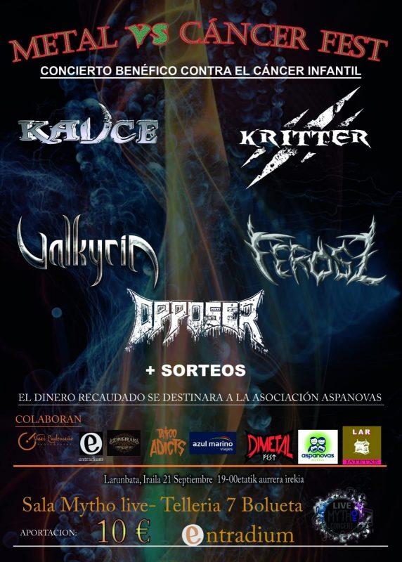 Metal Vs Cáncer Fest en Bilbao