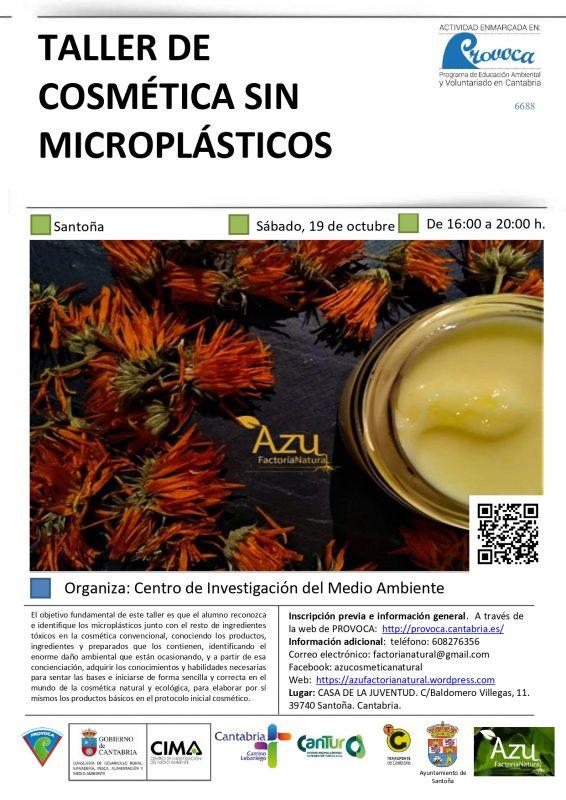 COSMÉTICA NATURAL SIN MICROPLÁSTICOS
