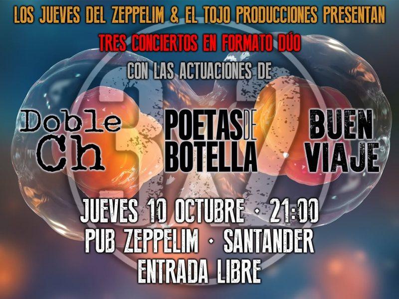 Concierto 3x2 en el Pub Zeppelim Santander