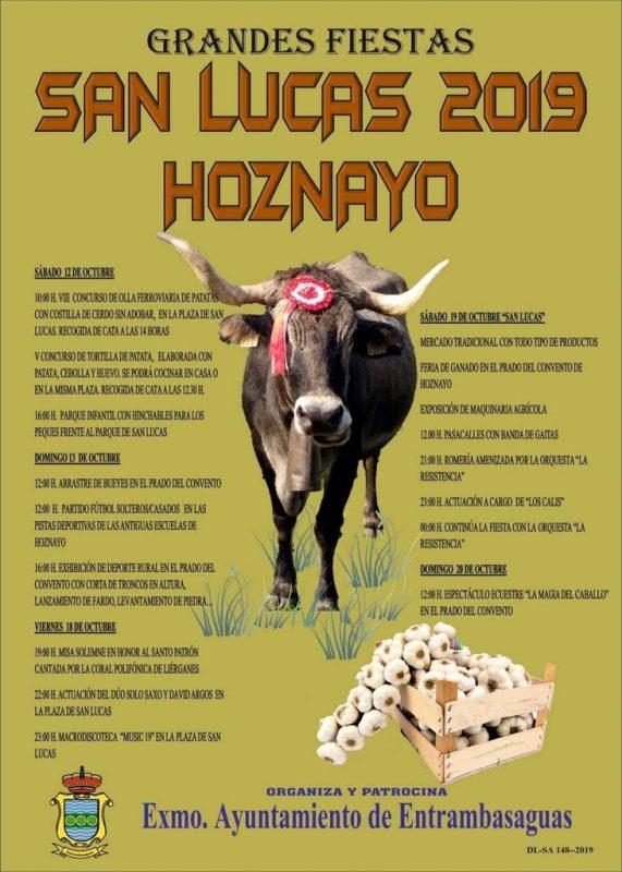 Fiestas de San Lucas 2019 en Hoznayo