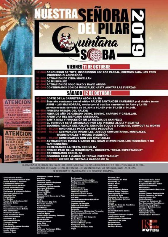Fiestas de Nuestra Señora del PIlar 2019 en Quintana Soba