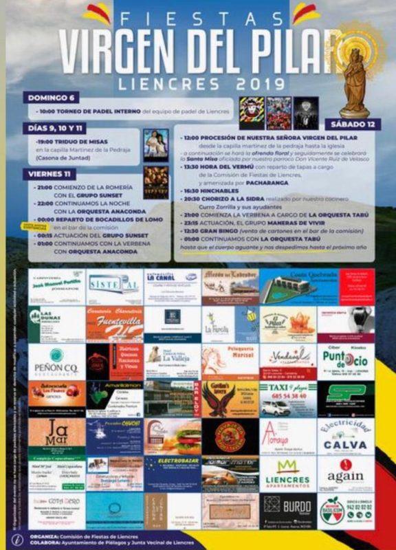 Fiestas Virgen del Pilar 2019 en Liencres