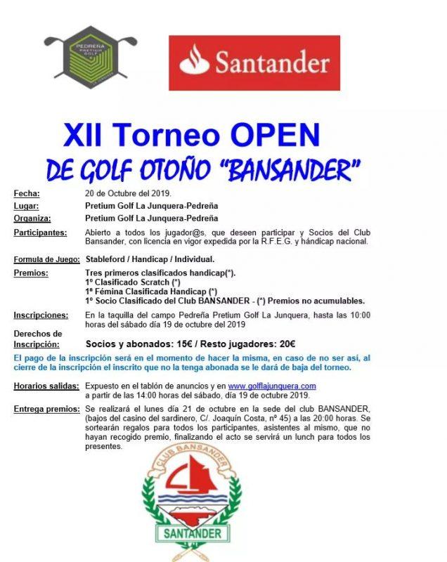 XII Torneo Open de Golf Otoño Bansander