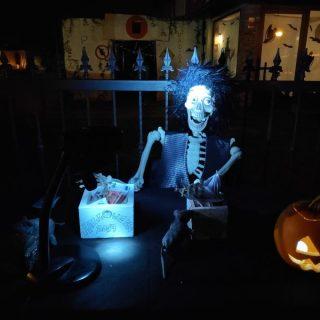 Cortiguera se volcó con Halloween