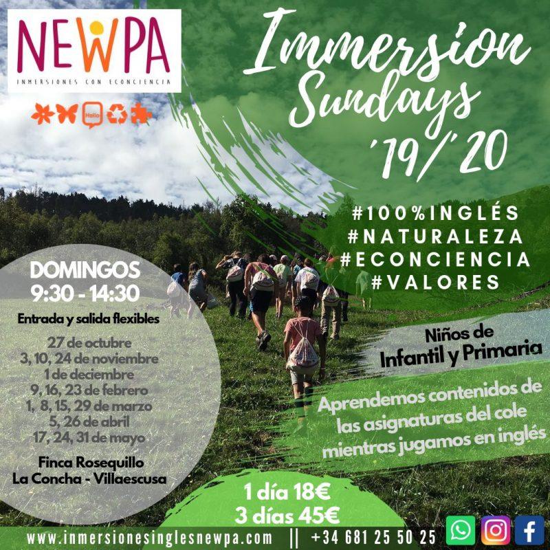 10 Octubre Immersion Sunday