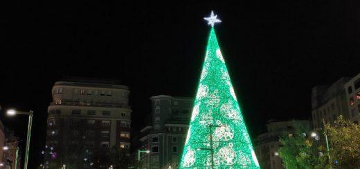 Encendido del alumbrado de Navidad Santander 2019