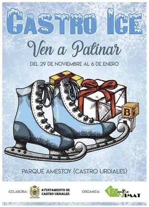 Patinaje sobre hielo en Castro Urdiales