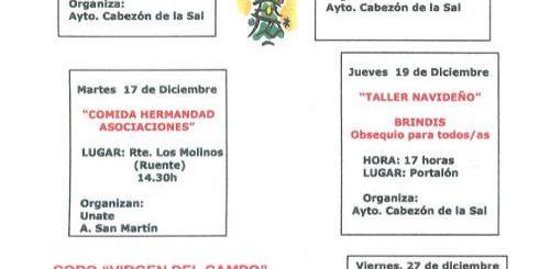 Actividades de navidad 2019 para mayores en Cabezón de la Sal