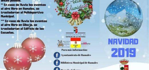 Cartel actividades para navidad 2019 en Ramales de la Victoria