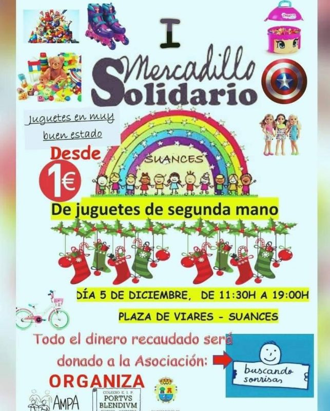 I Mercadillo solidario en Suances