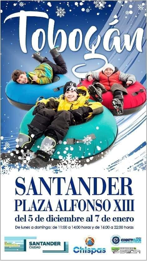 Tobogán navideño 2019 en Santander