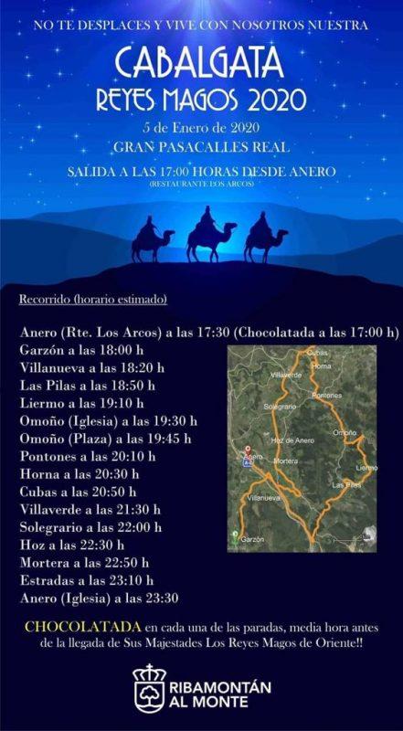 Cabalgata de los Reyes Magos 2020 en Ribamontán al Monte