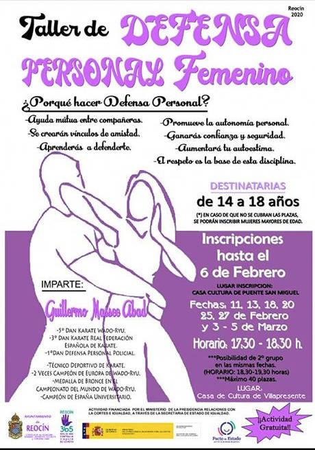 Talleres de defensa personal femenino en Puente San Miguel