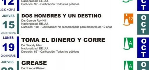 Proyección de películas gratis en Escenario Santander
